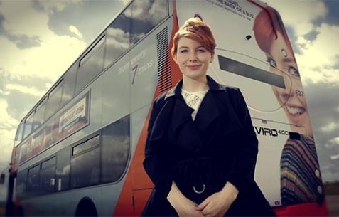 BBC Alice Levine and her named bus for NCT video