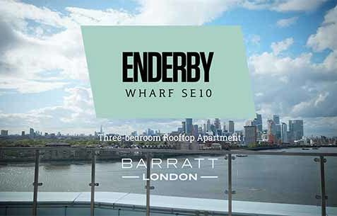 Video of Enderby Wharf property with epic time-lapse of city of London.