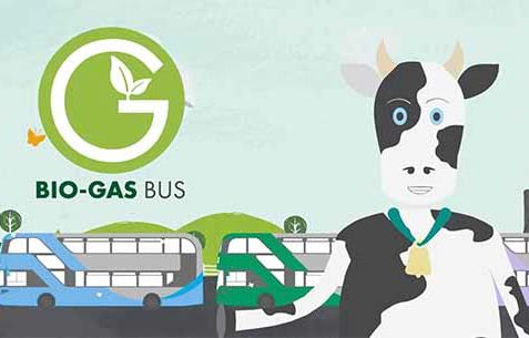 Animation of Bio Gas explainer video for Nottingham city transport