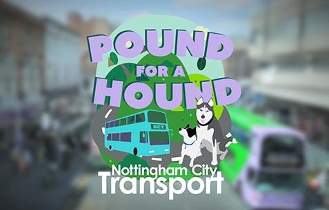 Promotional marketing video production for Nottingham City transport with Dog