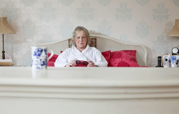 "Author Sue Townsend pictured at her home in Leicester to promote her book ""The woman that went to bed for a year"". It was announced today that she had passed away after a short ilness at the age of 68. David Marsden / PAGEONE"