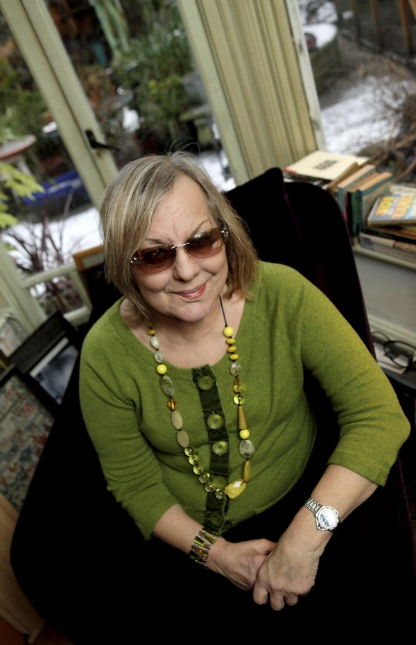 Author Sue Townsend at home in Leicester. Shortly after she received a kidney transplant from her son Sean. It has been announced today that she has passed away at the age of 68. Doug Marke / PAGE ONE