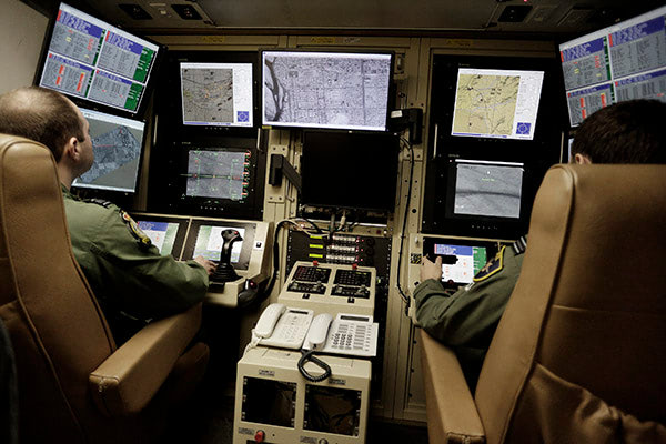 The flight deck for the Reaper UAS.