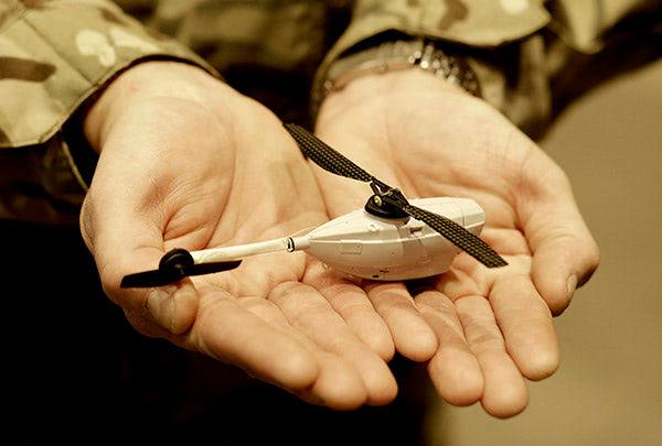 The Armies smallest drone, the Black Hornet.