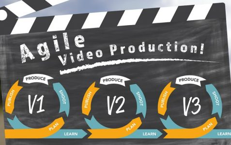 Agile video production script writing graphic from Page One.