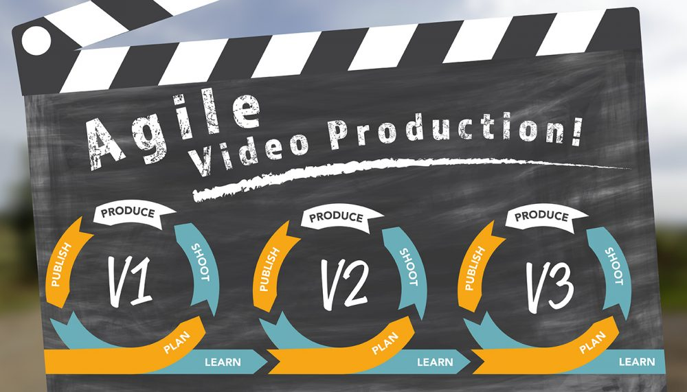 Agile video production script writing graphic from Page One