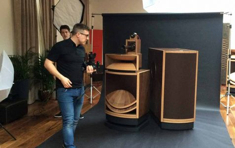 On location product photography with the best speakers in the world.